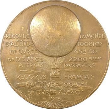 IIIe République, J. Schneider, records aérostatiques avec l'Icare, 1913