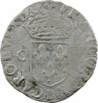 Charles X, douzain aux 2 C, 2e type, 1593 Rouen