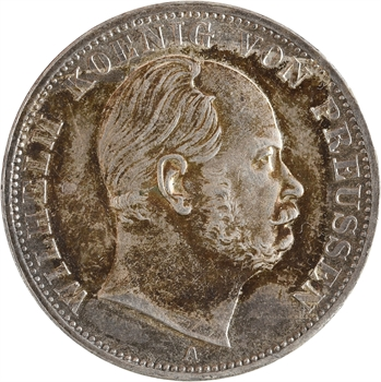 Allemagne, Prusse (royaume de), Guillaume Ier, vereinsthaler, 1868 Berlin