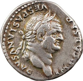 Vespasien, denier, Rome, 75