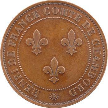 Henri V, module de 5 francs par l'éditeur Prévôt, par Tasset, s.d. (1872) Paris