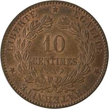 IIIe République, 10 centimes Cérès, 1897 Paris (torche)