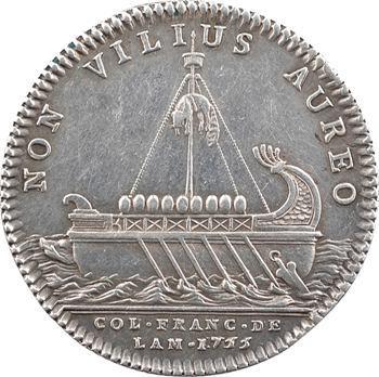 Amérique, Canada, Louis XV, jeton, le vaisseau des Argonautes, 1755 Paris