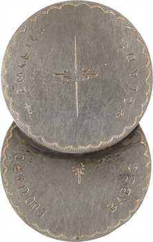 IIIe République, médaille de mariage artisanale, mariages d'amour et de raison, 1901-1905