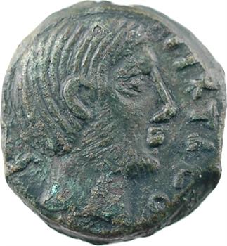 Carnutes, bronze à la déesse assise, classe V, c.40-30 av. J.-C
