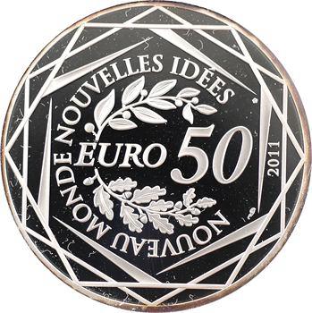 Ve République, 50 euros argent, sommet du G20, 2011 Paris