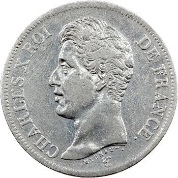 Charles X, 5 francs 1er type, 1826 Strasbourg