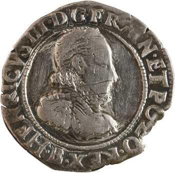 Henri III, quart de franc au col fraisé, 1577 Rouen