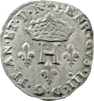 Henri III, Double sol parisis, 2e type, 1585 Limoges