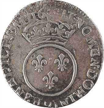 Louis XV, dixième d'écu dit Vertugadin, FAUX D'ÉPOQUE ? [1716 Rennes]