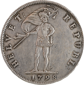 Suisse, République helvétique, 40 batzen, 1798 Soleure