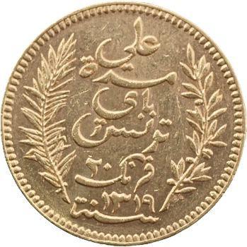 Tunisie (Protectorat français), Ali, Bey, 20 francs, 1901 Paris