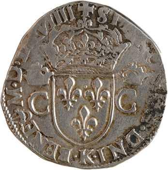 Charles IX, teston 2e type, 1569 Bordeaux