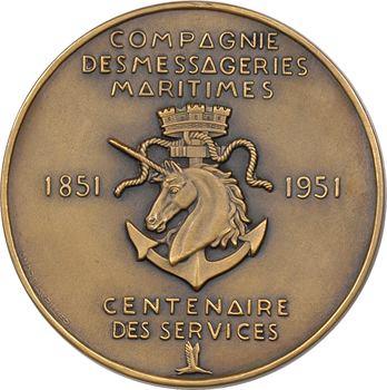 IVe République, centenaire des services de la Compagnie des Messageries Maritimes, par Lavrillier, 1851-1951 Paris