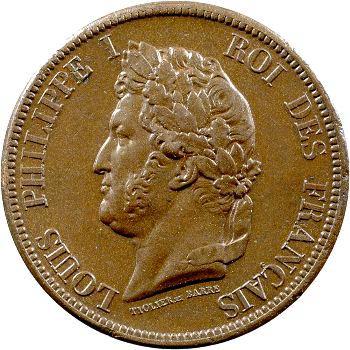 Louis-Philippe, 10 centimes des colonies françaises, 1839 Paris