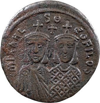Michel II, follis, Constantinople, 820-829