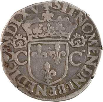 Charles IX, teston 2e type, 1565 Bordeaux