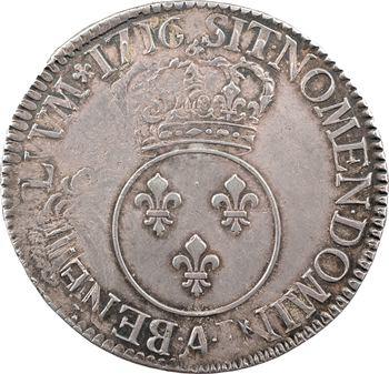 Louis XV, écu dit Vertugadin, 1716 Paris