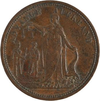 Nouvelle-Zélande, Auckland, penny token Morrin and Compagny, s.d. (1860-1866)