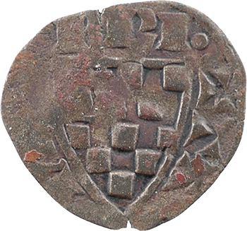 Bretagne (duché de), Jean III, denier, s.d. Evran