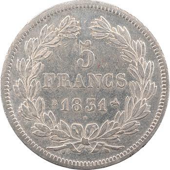 Louis-Philippe Ier, 5 francs Ier type Domard, tranche en relief, 1831 Rouen