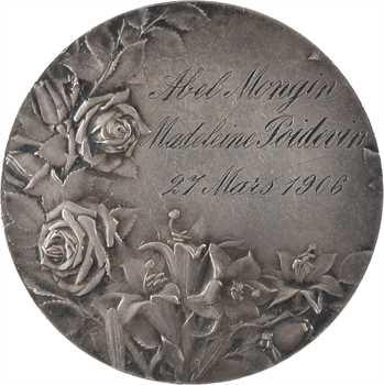 Vernon (F.) : médaille de mariage, 1906 Paris