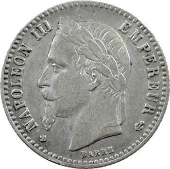 Second Empire, 50 centimes tête laurée, 1867 Strasbourg