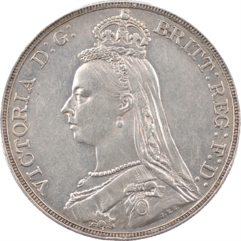 Royaume-Uni, Victoria, couronne (crown), 1889 Londres