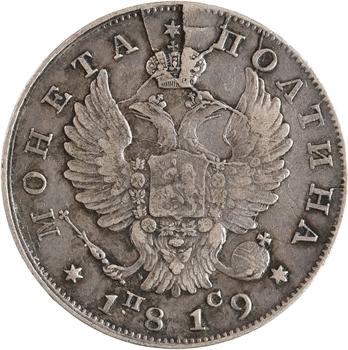 Russie, Alexandre Ier, poltina (demi-rouble), 1819 Saint-Pétersbourg