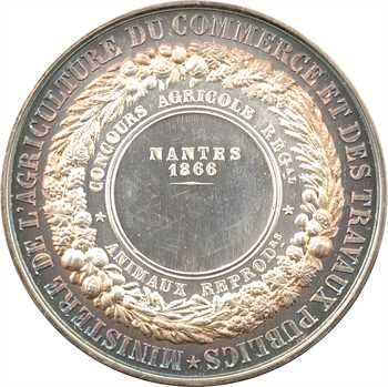Second Empire, Comice Agricole de Nantes, 1866 Paris PROOF