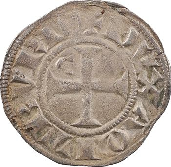 Aquitaine (duché d'), Édouard Ier, denier au léopard, 3e type (E droit)