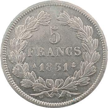 Louis-Philippe Ier, 5 francs Ier type Domard, tranche en relief, 1831 Paris