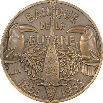 IVe République, centenaire de la Banque de la Guyane, par Baron, 1855-1955 Paris