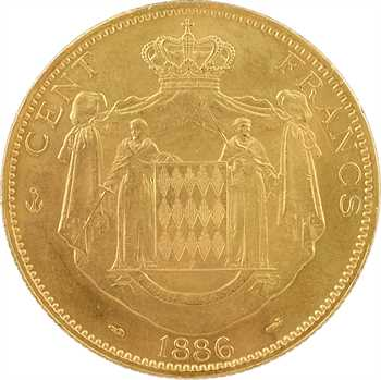 Monaco, Charles III, cent francs or, 1886 Paris