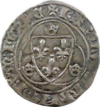 Charles VII, blanc à la couronne, 1re émission, Chinon