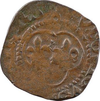 Louis XI, denier tournois (croisettes initiales), Châlons-en-Champagne