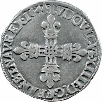 Louis XIV, quart d'écu, croix de face, 1644 Bordeaux
