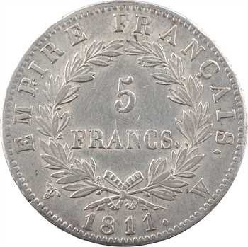 Premier Empire, 5 francs Empire, 1811 Lille