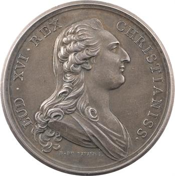 Louis XVI et Marie Antoinette, par Duvivier, s.d. (refrappe) Paris