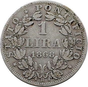 Vatican, Pie IX, 1 lire, 1868/XXII Rome