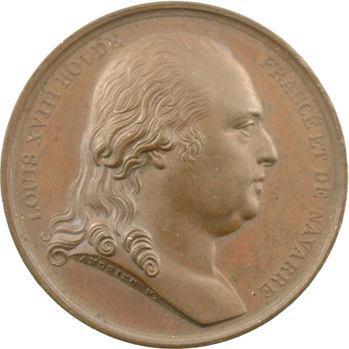 Louis XVIII, Charte constitutionnelle par Andrieu, 1814 Paris