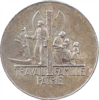 IIe Guerre Mondiale, le Maréchal Pétain, par Pierre Turin, très petit module en argent, 1941 Paris