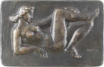 Muller (L.) : Baigneuse au repos, fonte, s.d