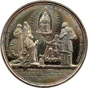 Vatican, Pie XI, médaille annuelle, Saint Thomas d'Aquin, 1923