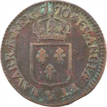 Louis XV, sol à la vieille tête, 1770 Troyes