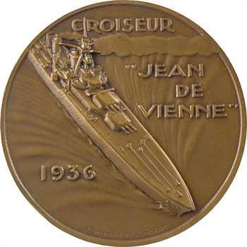 Delamarre (R.) : le croiseur Jean de Vienne, dans sa boîte, 1936 Paris