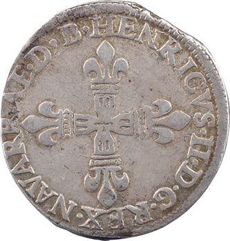 Béarn (seigneurie de), Henri II, quart d'écu, 1587 Pau