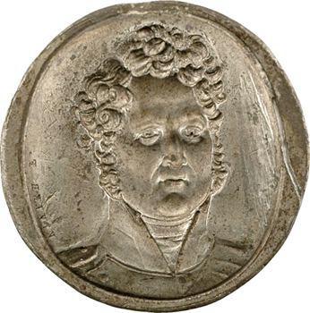 Louis-Philippe Ier, cliché par Vivier en étain, s.d. Paris