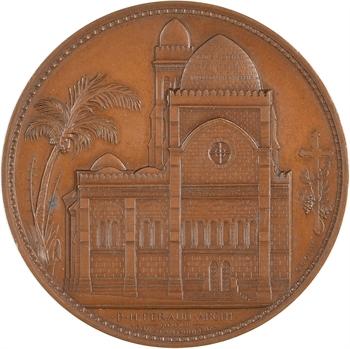 Algérie, Alger, agrandissement de la Cathédrale, par Oudiné, 1853 Paris