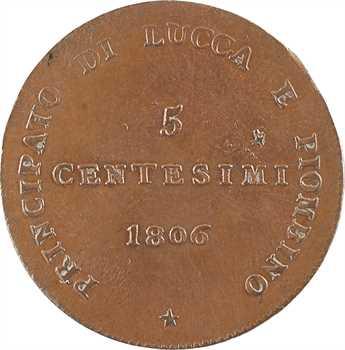 Italie, Lucques et Piombino, 5 centesimi, 1806 Florence